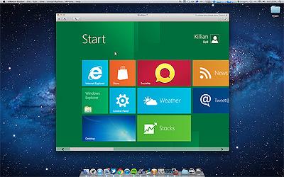 Windows 8 runs on Mac OS