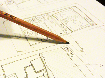UX Design with pencil & paper
